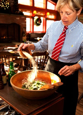 Fresh Caesar Salad made tableside: Fine Dining, Live Music & Fireplaces - Fife 'n Drum Restaurant