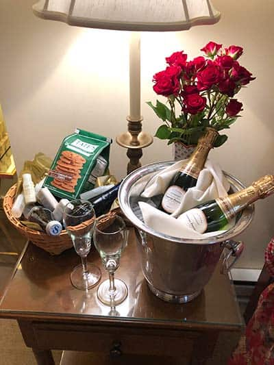 A Bliss Basket welcomes you at the Fife in Kent, Connecticut